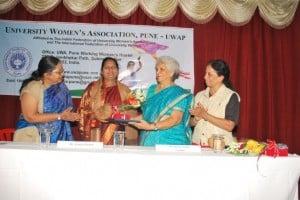 Pramila Bhalke Felicitated by UWAP Trustee Malati Kelker