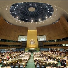 IFUW reads statement to United Nations